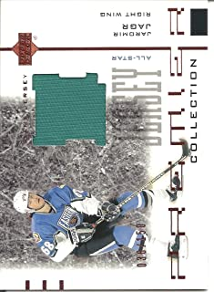 Jaromir Jagr 2001-02 UD Premier Collection Jersey Card #BJA 036/150 Pittsburgh Penguins