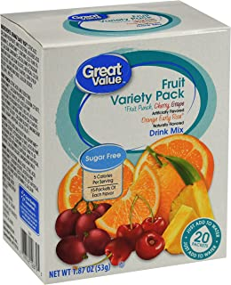 Great Value Sugar free-Low calorie 20ct Variety Pack Drink Mix (1 Pack)