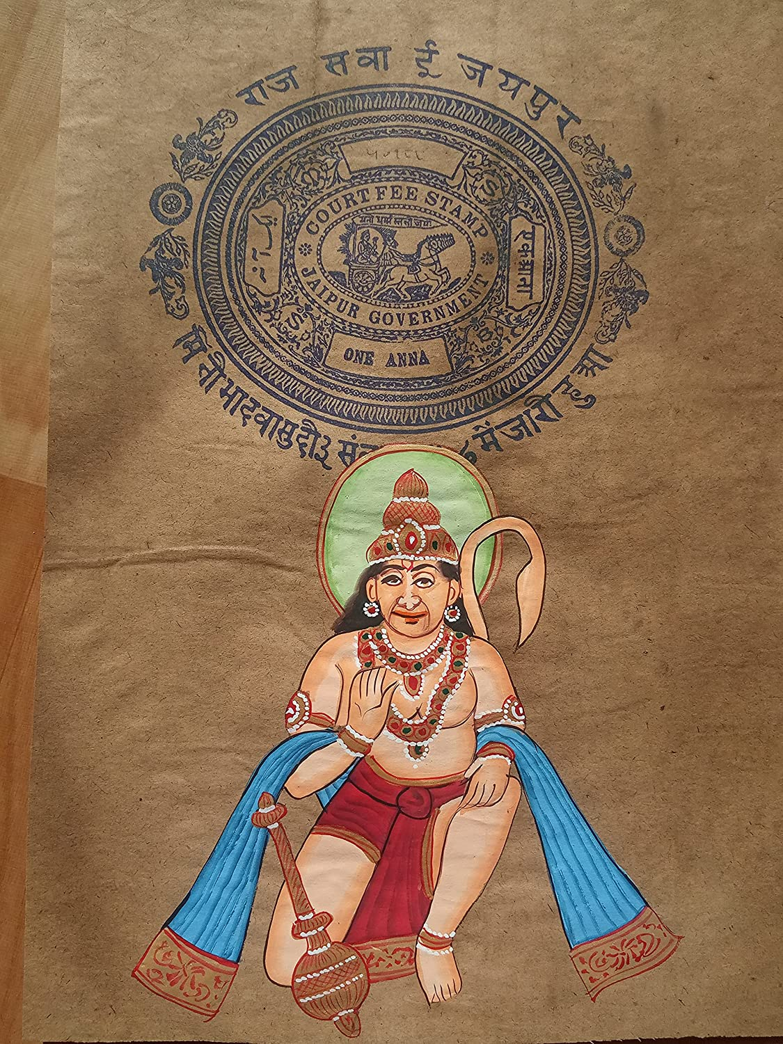 Lord Hanuman Religious Painting Complete Free Shipping Popular products A Handmade Miniature Handcrafted