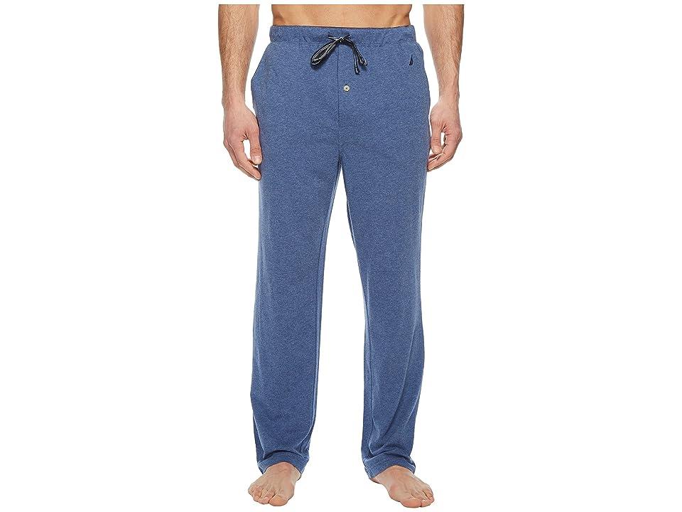 Nautica Knit Sleep Pants (Blue Indigo Heather) Men