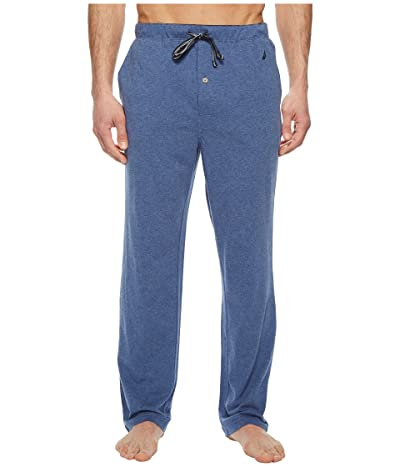 Nautica Knit Sleep Pants (Blue Indigo Heather) Men