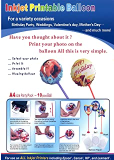 Best printable balloon paper Reviews