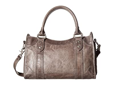 Frye Melissa Satchel (Ice Antique Pull Up) Satchel Handbags
