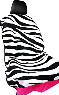 Y 40 THIEVES Removable Sweat Towel Protect Front Bucket Seat Free for Cars Truck SUV After Gym, Runs, Swimming, Biking, Yoga, Surfing & Beach Trips (Zebra Black)