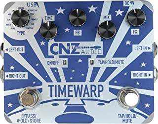 CNZ Audio Time Warp - Multi-Delay Guitar Effects Pedal, Dual Input & Output