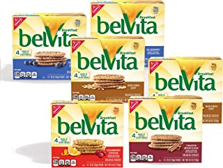 belVita Breakfast Biscuits, Assorted Flavors, 30 Packs (4 Biscuits Per Pack)