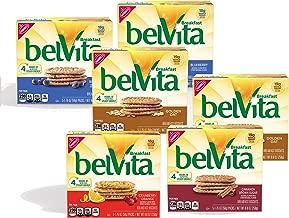 belVita Breakfast Biscuits, Assorted Flavors, 30 Packs (4 Biscuits Per Pack)