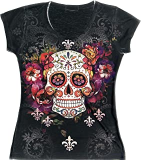 day of the dead t shirts women