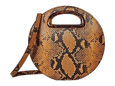 Loeffler Randall Indy Circle Crossbody (Amber) Cross Body Handbags