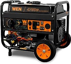 WEN DF475T 4750-Watt Electric Start Dual Fuel Portable Generator with Wheel Kit,..