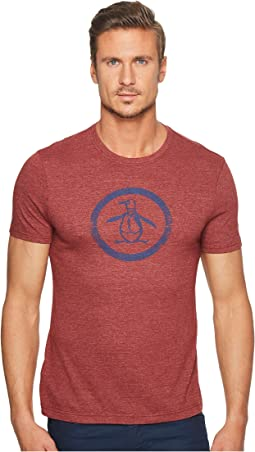 Original Penguin - Short Sleeve Tri-Blend Circle Logo Tee