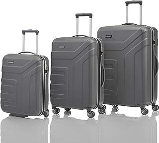 "Travelite Set de bagage""Vector"" 3 pcs anthracite Luggage Set, 77 cm, 110 liters, Black (Anthracite)"