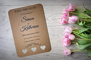 10X Pencil Us In Save The Date Wedding Invitation Evening Calendar Card Envelope 71203 Stationery