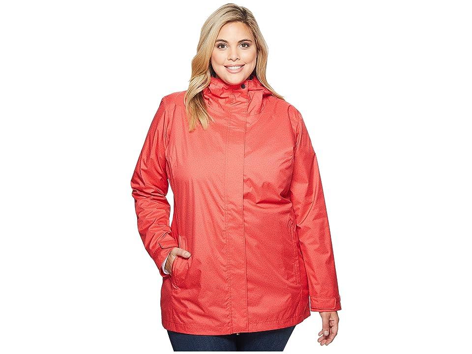 Columbia Plus Size Splash A Little II Rain Jacket (Red Camellia Geo Lights Print) Women