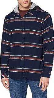 Hurley M Portland Stripe Flannel Hood Shirt Hombre