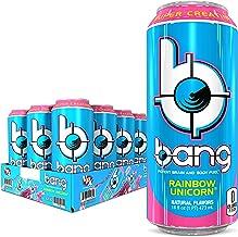 Bang Rainbow Unicorn Energy Drink, 0 Calories, Sugar Free with Super Creatine, 16oz, 12 Count