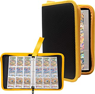 Totem World 3-Ring Zipper Binder with Yellow Zipper, 40 9-Pocket Side-Loading Pages - Fits Pokemon, Yu-Gi-Oh, and Magic The Gathering Cards
