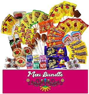 Mexi Bundle | Mexican Candy Bundle | Spicy, Sweet, Sour | Inclues, Jovy, Rebanaditas, Takis, Tajin, Mazapan, Pulparindo, etc | Count of 60