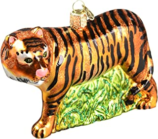 Old World Christmas Ornaments: Wildlife Animals Glass Blown Ornaments for Christmas Tree, Tiger