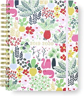 Kate Spade New York 17 Month Mega Hardcover 2019-2020 Daily Planner, Weekly and Monthly Planner with Stickers, Pocket Folder, and Tab Dividers, 10
