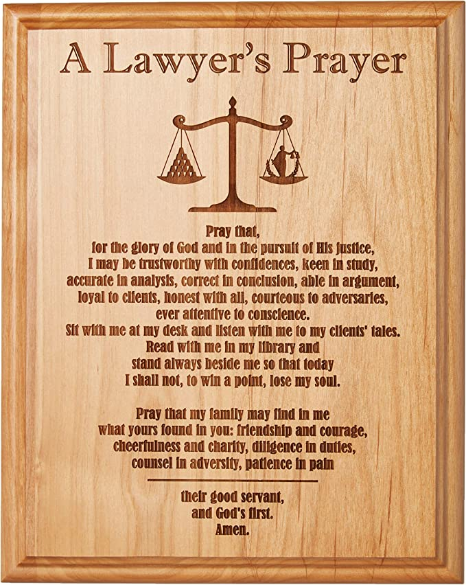 Etching Memories A Lawyer's Prayer Engraved on 8