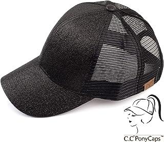 845868f8f41 C.C Hatsandscarf Ponytail caps Messy Buns Trucker Plain Baseball Cap (BT-6)