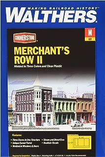 Walthers Cornerstone N Scale Model Merchant's Row Ii Kit, 6-1/4 x 3-1/2