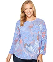 Extra Fresh by Fresh Produce - Plus Size Colored Pencils Catalina Top