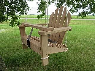Adirondack Child Swing and Chair - Unfinished Oak