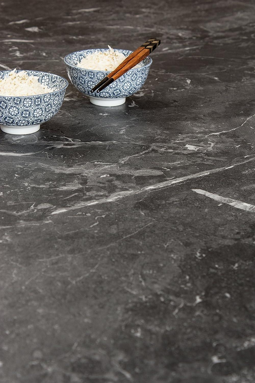 Schwarzer Marmor - Resopal Küchenarbeitsplatten (3m × 900mm × 38mm)