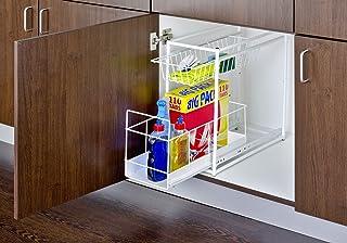 Wenko 2767010100 Tablette Coulissante 2 Compartiments Dimensions 45 x 45 x 23cm