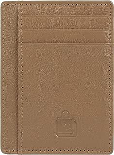 Le Craf Tobacco RFID genuine Leather Credit card holder for Men/Women Front Pocket Slim Wallet
