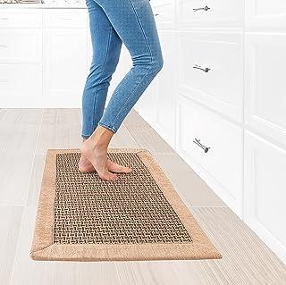 Dark Beige Sisal Like Modern Rug Door Mat Kitchen Rugs Large Washable Easy Clean