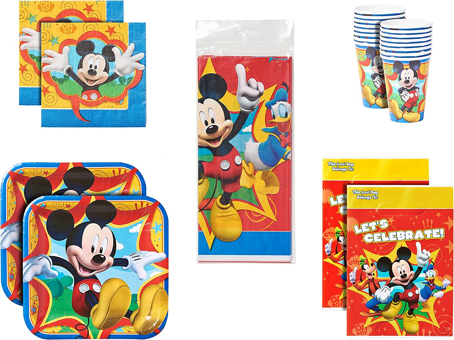 American Greetings Mickey Mouse Party Bundle Pack for 16 Guests