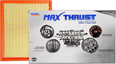 Spearhead MAX THRUST Performance Engine Air Filter For Low & High Mileage Vehicles - Increases Power & Improves Acceleration (MT-755)