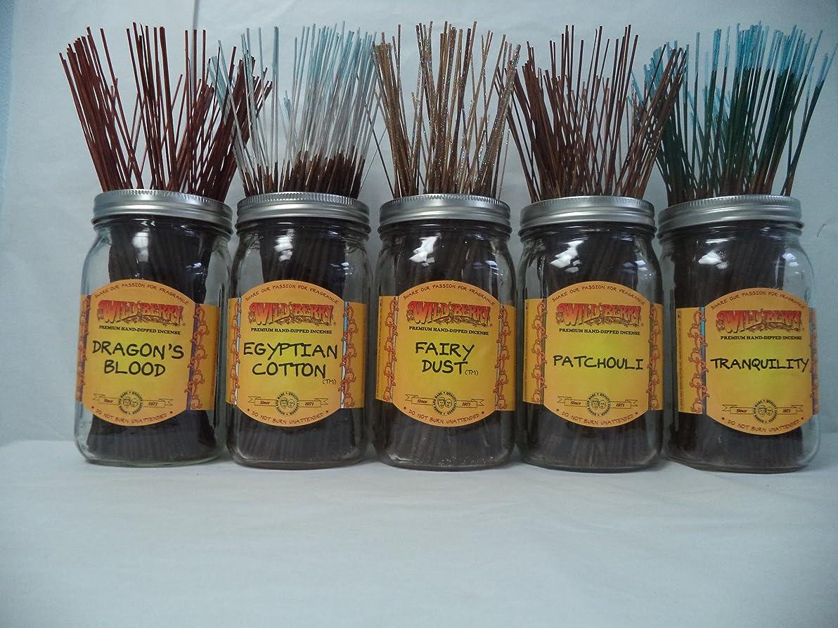 遠近法集団侵入Wildberry Incense Sticks Best Sellerセット# 2?: 4?Sticks各5の香り、合計20?Sticks 。