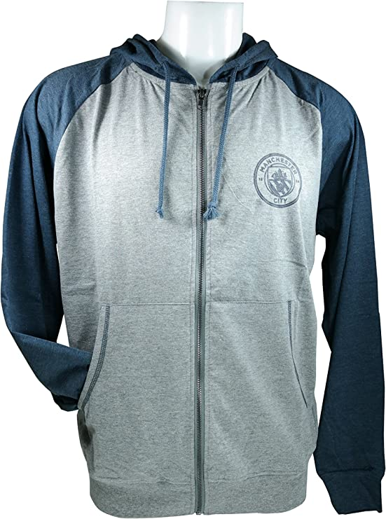 Icon Sports Men Manchester City Jacket Officially Licensed Pullover Soccer Hoodie 032
