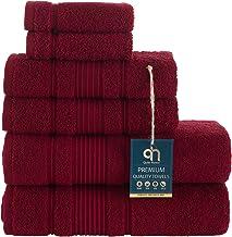 2 Pack Bath Towels Set | Premium Quality Luxury Turkish Cotton Absorbent and Super Soft - Burgundy