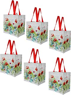 Earthwise Reusable Grocery Shopping Bags Extremely Durable Multi Use Large Stylish Fun Foldable Water-Resistant Totes Desi...