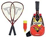 Talbot-Torro Speed-Badminton Set Speed 5000, 2 handliche Alu-Rackets 56,5cm, 6 w