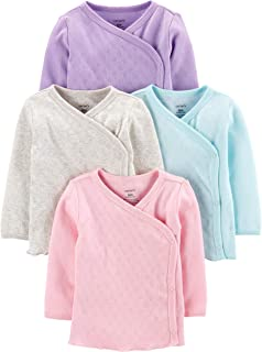 Carter's Baby Girls' 4-Pack Side-Snap Tees
