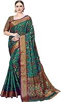Cotton Shopy Kanjivaram Art Silk Blend Floral Saree with Unstitched Blouse Piece