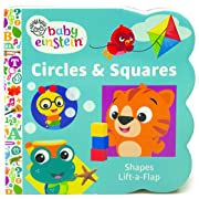 Baby Einstein Circles and Squares Lift a Flap Board Book (Chunky Lift-a-Flap)