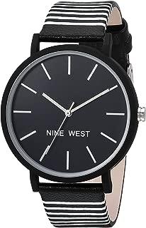 Nine West - Reloj de pulsera para mujer, diseño de rayas