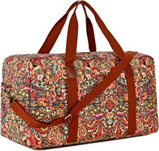 HB-32 Canvas Travel Duffel Bag Weekender Overnight Bag Carry on Oversized for Ladies Women (Colour)
