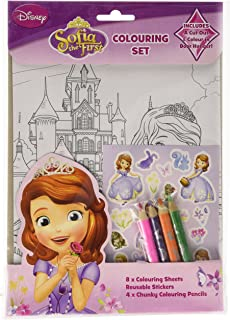 Disney Princess Sofia Colouring Set Childrens Activity Stickers Stocking Filler Gift