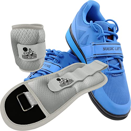 lowest Nordic Lifting Powerlifting online Shoes MEGIN (Blue, 8.5 US) and 2021 Ankle/Wrist Weights (1 Pair, Two 5 lbs) Sleek Grey online sale