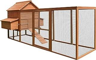 ALEKO DXH1000RD Wooden Fir Pet House Chicken Coop Hen House Rabbit Hutch 12 x 6 x 6 Feet
