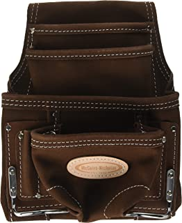 McGuire-Nicholas 688 Nail & Tool Bag with 10 Pockets, Genuine Suede Leather
