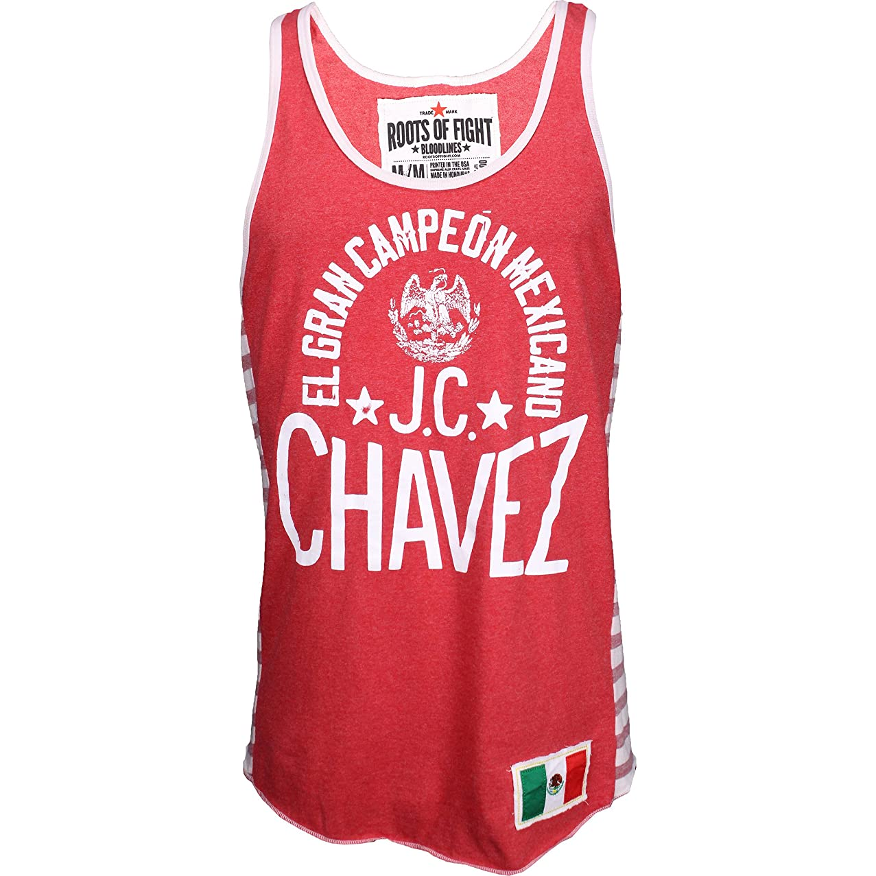 Roots of Fight Julio Cesar Chavez Striped Tank - Red - 2X-Large